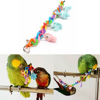 Wholesale Colorful Pet Parrot Cockatiel Parakeet Bird Chew Toys Animal Pattern Birds Bites Swing Cages Chain Toy
