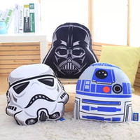 Wholesale Star Wars Plush dolls cm Stormtrooper R2 D2 Darth Vader Plush Doll toys design pillow cushion pillow case Christmas Gifts EMS