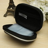 Wholesale Hard EVA Shockproof Earphone Headset Earpiece Case Cover for SD SDHC Memory Card Storage Box Bag against scratches damages