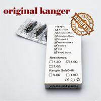 Wholesale Original Kanger Dual Coils bdc replacement ohm ohm ohm head for Kangertech Protank Mini Aerotank Mega EVOD glass genitank v2 pro