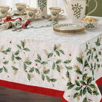 lenox - Christmas Lenox holiday Leave pattern fabric table cloth rustic tablecloth