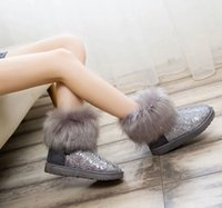 Wholesale 2015 Designer Brand Shoes Woman Platform Boots For Women Womens Girls Shoes Winter Ankle Boots Sequins Snow Boots Size