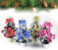 Cheap Christmas Tree A Small Pine Tree Bonsai Miniascape Placed In The Desktop Mini Christmas Tree With Flower Ball Free Shipping