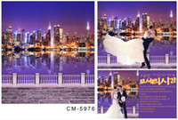 Wholesale Custom X7FT Night City Scenic Backdrop Background For Photo Studio Photography Backgrounds Vinyl Backdrops Digital Cloth