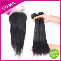 Cheap Brazilian Hair silk base closure Best Natural Color Straight lace closure