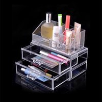 acrylic vanity table - Clear Acrylic Cosmetics Makeup Organizer Drawer Make Up Case Vanity Table Storage Box Insert Holder Makeup Tool Kit