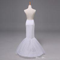 2015 Vestido nupcial de la falda de la crinolina de la enagua de la enagua de la trompeta de la sirena del vestido de boda de las nuevas llegadas Tulle Nupcial 12009