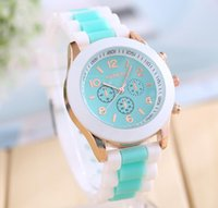 ice watches - TOP Fashion men and women watches Geneva silicone unisex silicone ice cream colour matching candy jelly quartz watch a801