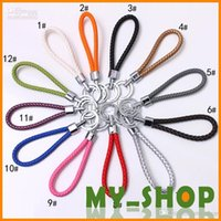 Wholesale New woven key chain leather key chains Bag device key ring KC2060