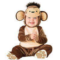 baby monkey halloween costume - Baby Infant little monkey Costume lovely Children Cosplay cartoon animals Halloween Christmas party Character Costumes baby clothes CY3046