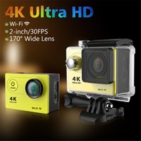 Wholesale SJ5000 H9 WIFI Action Camera Ultra HD K FPS P HDMI quot LCD Diving M Waterproof Helmet Cam Video Sport DV Camera