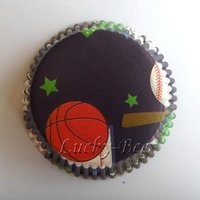 basketball cupcakes - basketball cupcake liners baking papers cups christmas decoration cake containers