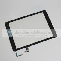 Wholesale Black Touch Screen Digitizer Assembly For iPad Air With Home Button And Home Flex Cable Replacement Good Price