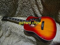 Wholesale 2015 New Cherry Burst Hummingbid Acoustic Guitar In Stock