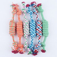 Wholesale 2016 Pet Dog Puppy Cotton Chew Knot Toy Durable Braided Bone Rope Pet Bone Chew Rope Funny Tool