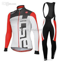 Wholesale 2016 Winter Cycling Jerseys Anti Bacterial Long Sleeves Bike Jersey Set Anti Pilling Suit Cycling Top Padded Pants Winter Gear