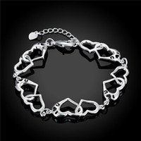 Charm Bracelets South American Women's H431 925 sterling silver heart-shaped bracelet fashion minimalist style nice birthday present top quality free shipping hot