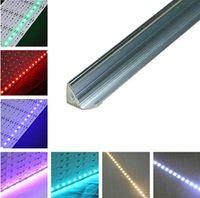 aluminum light reflectors - DHL Fedex sets led rigid bulb light SMD5630 DC12V m leds non waterproof V Channel Mirror Reflector aluminum slot decoration light