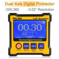 Wholesale New DXL360 Digital Protractor with Dual and Single Axis LCD Display Angle for Floor Stairs