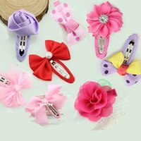 Lace grosgrain ribbon - Large solid color grosgrain ribbon bow hair clips BB clip children hair clip side