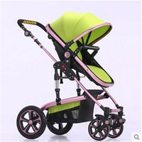 baby stroller travel systems - Baby travel system European standard stroller can sit to avoid damping folding baby child hand pushing a stroller landscape