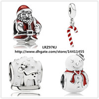 murano jewelry - European Pandora Style Jewelry Charm Bracelets Sterling Silver Charms and Murano Glass Bead Set Happy Christmas Gift