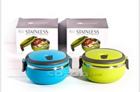 Cheap Stainless Steel Thermos Bento Lunch Box for Kids Thermal Food Container Japanese Food Box Lunchbox w  Handle Blue & Green