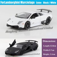Wholesale 1 Alloy Diecast Metal Model Car Collection Pull Back Car Toys For TheLam borghini Murcielago LP640 White Black