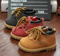 Wholesale new winter shoes children shoes boys and girls leather boots Martin boots
