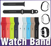 Wholesale 2016 in watch band New WatchBand For Apple Watch Strap Split Silicone Wrist Band Strap For apple watch mm mm with Adapter Connector