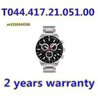Cheap Wholesale-100% Original Japan Quartz Movement Men's Chronograph Watch T044.417.21.051.00 T044 Gents Wristwatch PRS516 + Original Box
