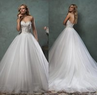 beautiful collections - Collections Amelia Sposa Wedding Dresses Strapless Sweetheart Beaded Lace Tulle Beautiful Victorian Ball Gown Wedding Dresses BOA