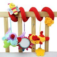 al por mayor colgaduras de juguete suave del bebé-Cama mayor-súper blando Multifuncional coche de bebé Cuna Hangings Animal de juguete de felpa de la buena calidad E5M1