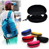 Wholesale Portable Zipper Eye Glasses Sunglasses Clam Shell Hard Case Protector Box