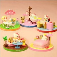 big cat collection - hello lucky kit Lovely scenes cute Hello cat Collection PVC Figures toy minis action Model best gift to girls