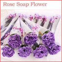 single flowers - Single Carnation and Rose Soap Flower Handmake Soap Flower Rose Petals Flower Paper Soap Valentine Gift