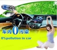 Wholesale 12V Genuine Mini Auto Car Fresh Air Ionic Purifier Oxygen Bar Ozone Ionizer Cleaner DHL