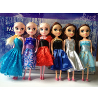 Wholesale Children Inch Cute Pincess Frozen Elsa Anna Dolls Party gift Girl Doll Toys Kids baby Gift