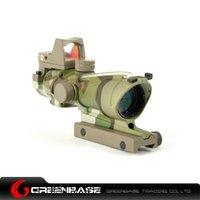 acog qd mount - New Tactical Trijicon ACOG Style EC X32 Fiber Optic Green Dot Sight Scope With QD Mount For Hunting Rifle Scope Multicam NGA0413