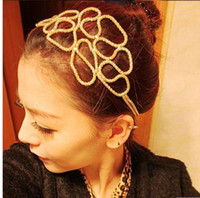 Cheap Gold Headband for Women Best Hollow-out Headband