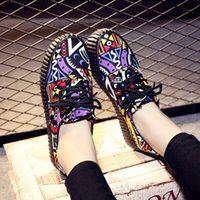 b elements - New Spring Autumn Women Casual Shoes Dunk Low Canvas Students Graffiti Tribal Elements The Only Personality Women s Casual Shoes