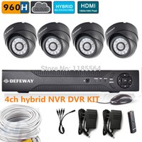 Cheap high resolution 4CH full 960h CCTV Security Camera System hybrid DVR NVR KIT HD 600TVL dome Camera Video Surveillance System