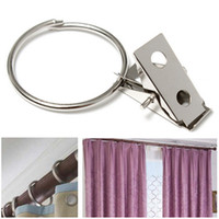 big curtain rods - Movable Silver Metal Curtain Circle Clips Pole Rod Voile Net Rings Hooks With Hanging Big Circle Clip Curtain Accessories