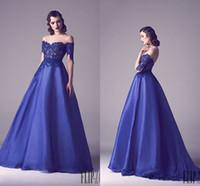 dress blue grace - 2015 Custom made Lace Royal Blue Evening Dress Muslim Style Formal Dress Floor Length Lace Grace karin Prom Dresses