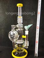 beautiful state - 2016 HEADY bongs Glass Water bong glass Smoking Pipe Bong Yellow United States technology beautiful Bong longerglassbong2