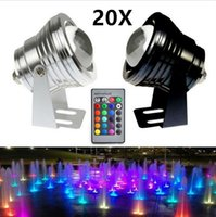 Wholesale 20X W V Led RGB Underwater Light Waterproof IP68 Fountain Swimming Pool Lamp Colorful Change With Key IR Remote