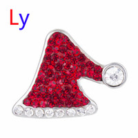 alloy suppliers - Christmas hat snap button metal snap jewelry for bracelet fit mm mm snap noosa jewelry making supplier AC125