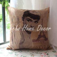 audrey hepburn film - Audrey Hepburn Film Star Movie Paris Eiffel Tower Hugging Pillow
