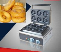 Wholesale 2016 Free ship high quality donut maker v electric stainless steel donut making machine with degree
