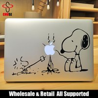 Wholesale Snopy Campfire Barbecue Laptop Decal Sticker for Apple Macbook Air Pro Retina quot quot quot Vinyl Mac portatil Adesivo Pegatina para notebook
